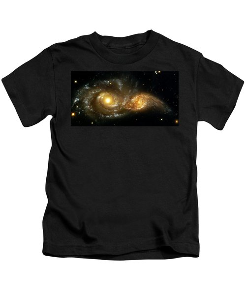 Two Spiral Galaxies Kids T-Shirt