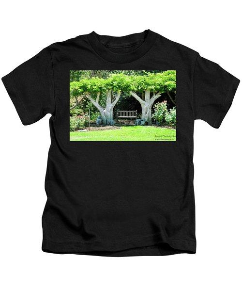Two Tall Trees, Paradise, Romantic Spot Kids T-Shirt
