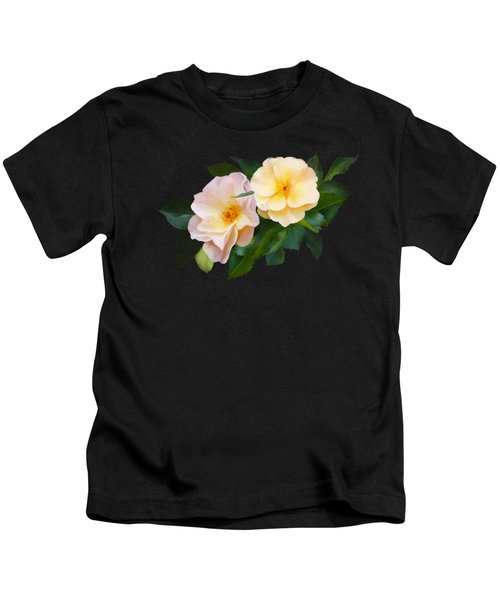 Two Wild Roses Kids T-Shirt