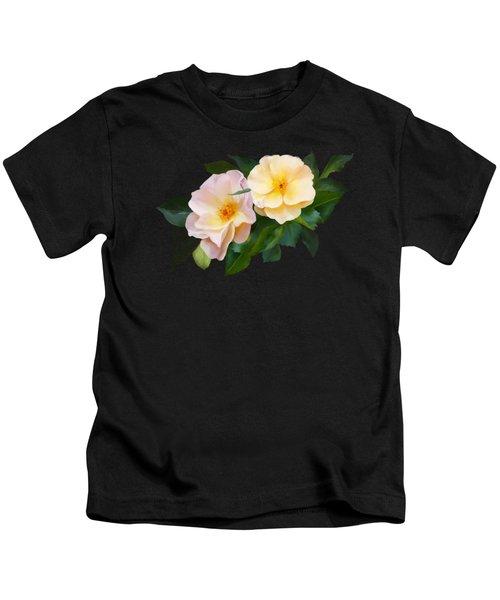 Two Wild Roses Kids T-Shirt