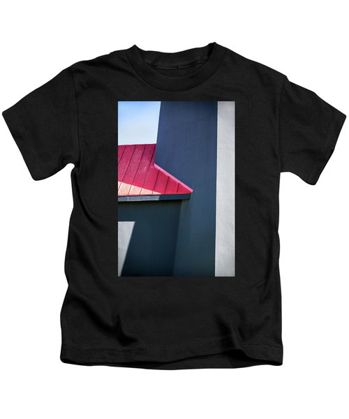 Tybee Building Abstract Kids T-Shirt