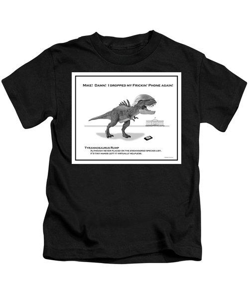 Tyrannosaurus Rump Bw Kids T-Shirt