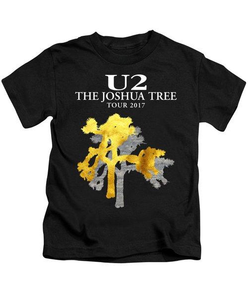 U2 Joshua Tree Kids T-Shirt by Raisya Irawan