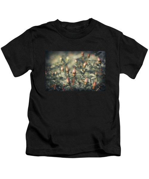 Unblown Rose Bush Kids T-Shirt by Konstantin Sevostyanov