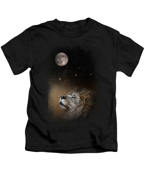 Under The Moon And Stars Kids T-Shirt by Jai Johnson