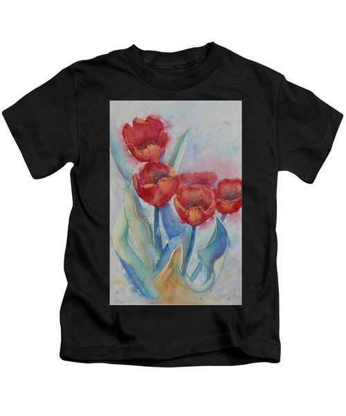Undersea Tulips Kids T-Shirt