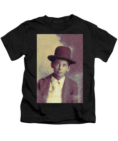 Unknown Boy In A Bowler Hat Kids T-Shirt