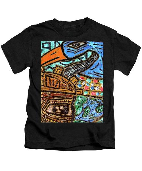 Untitled Olmec And Tehuti Kids T-Shirt