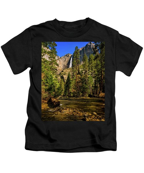 Upper Yosemite Falls From Yosemite Creek Kids T-Shirt