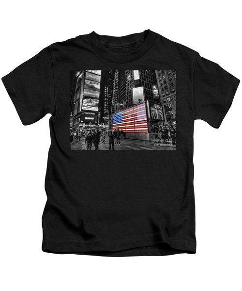 U.s. Armed Forces Times Square Recruiting Station Kids T-Shirt