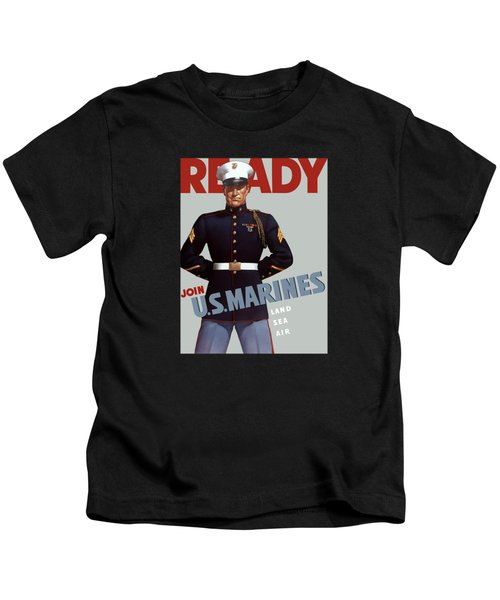 Us Marines - Ready Kids T-Shirt