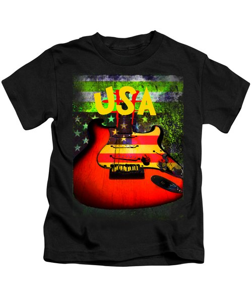 Usa Guitar Music Kids T-Shirt