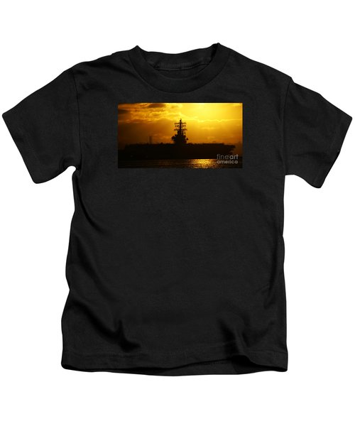 Uss Ronald Reagan Kids T-Shirt