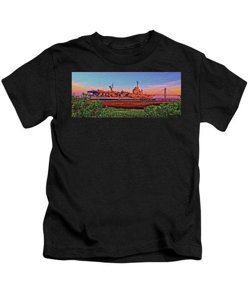 Uss York Town Kids T-Shirt
