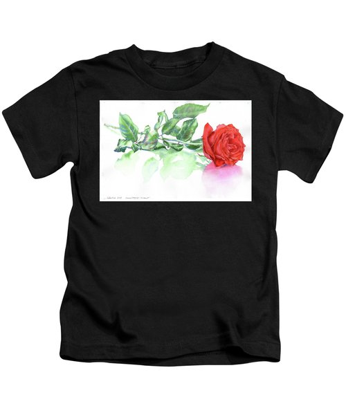 Valentine Rose Kids T-Shirt