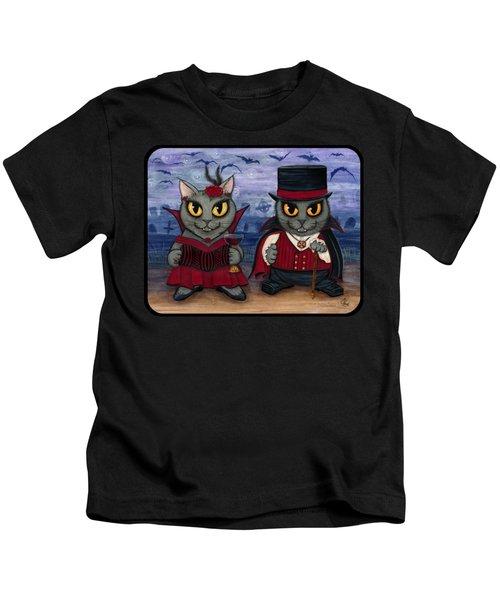 Vampire Cat Couple Kids T-Shirt