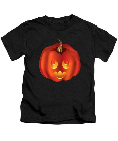 Vampire Halloween Pumpkin Kids T-Shirt