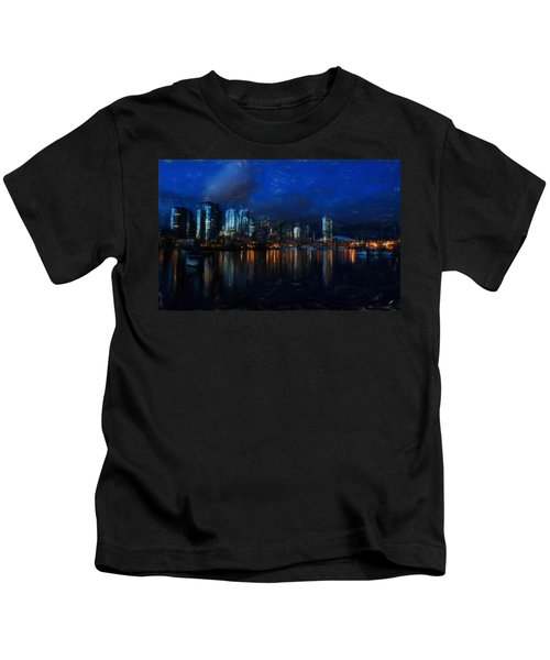 Vancouver At Dusk Kids T-Shirt