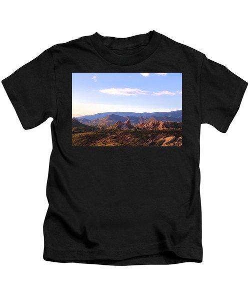Vasquez Rocks Sky And Stones Kids T-Shirt
