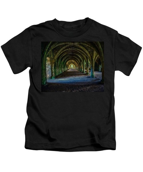 Vaulted, Fountains Abbey, Yorkshire, United Kingdom Kids T-Shirt
