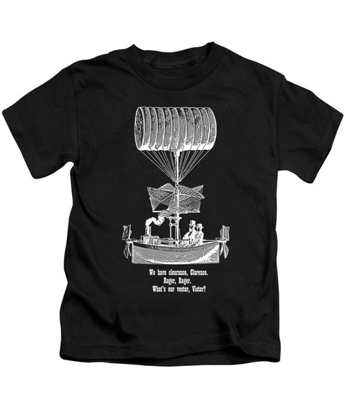 Vector Victor Vintage Airship White Transparent Kids T-Shirt