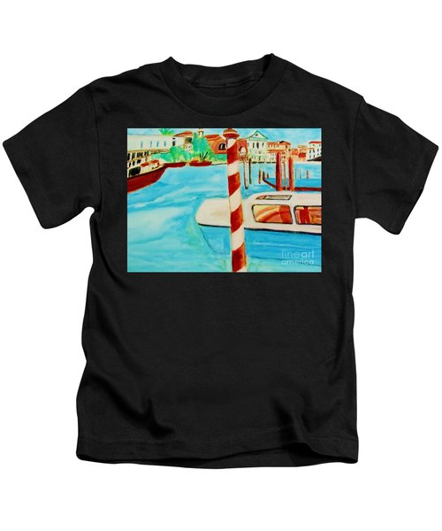 Venice Travel By Boat Kids T-Shirt