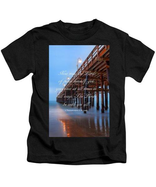 Ventura Ca Pier With Bible Verse Kids T-Shirt
