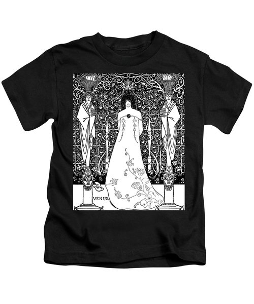 Venus And Tannhauser By Aubrey Beardsley Kids T-Shirt