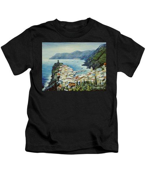Vernazza Cinque Terre Italy Kids T-Shirt