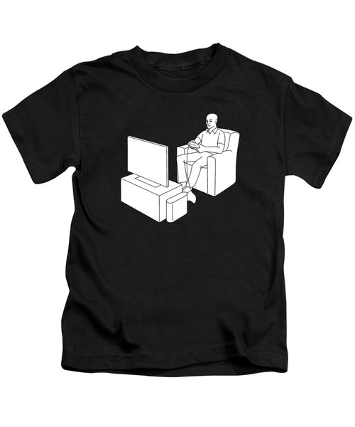 Kids T-Shirt featuring the digital art Video Gamer Tee by Edward Fielding