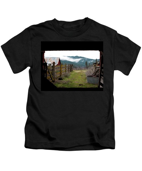 View From A Barn Kids T-Shirt