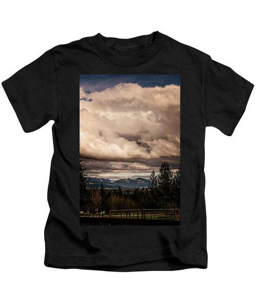 View From Flicka Farm Kids T-Shirt