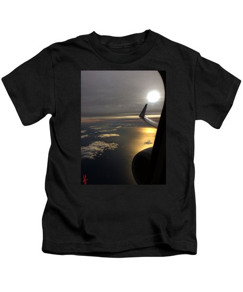 Kids T-Shirt featuring the photograph View From Plane  by Colette V Hera Guggenheim