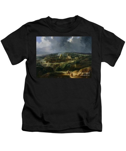 View Of Jerusalem From The Valley Of Jehoshaphat Kids T-Shirt