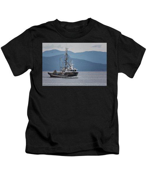 Viking Sunrise At Nw Bay Kids T-Shirt