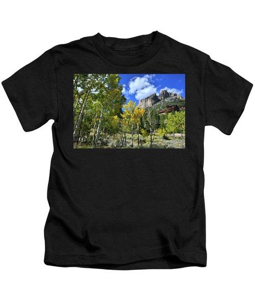 Village Beneath Mt. Charleston Kids T-Shirt