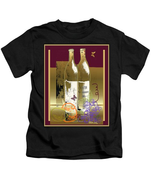Vin, Fruit, Et Papillons Kids T-Shirt