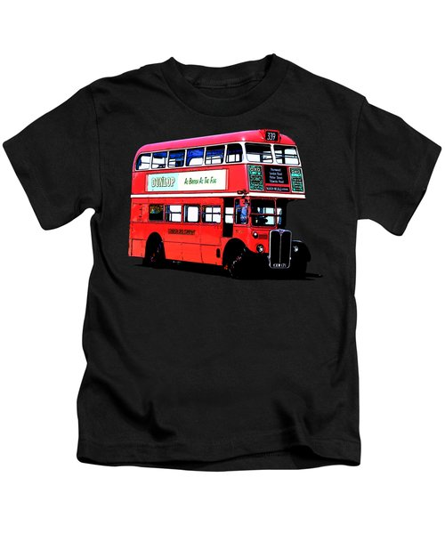 Vintage London Bus Tee Kids T-Shirt by Edward Fielding