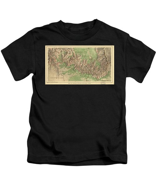 Vintage Map Of The Grand Canyon - 1926 Kids T-Shirt