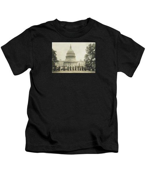 Vintage Motorcycle Police - Washington Dc  Kids T-Shirt