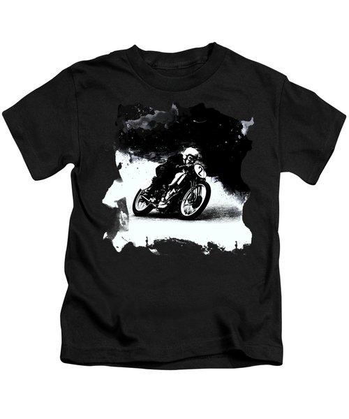Vintage Motorcycle Racer Kids T-Shirt
