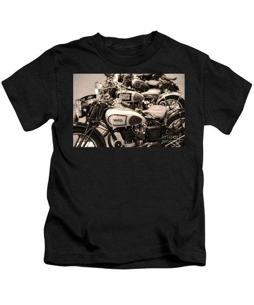 Vintage Motorcycles Kids T-Shirt