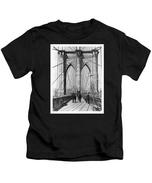 Vintage Photo Brooklyn Bridge Kids T-Shirt