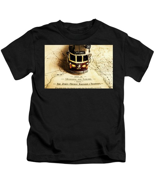 Vintage Railways And Tramways Kids T-Shirt