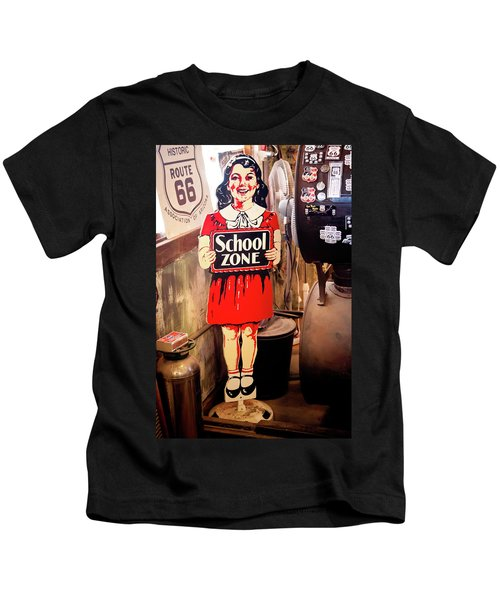 Vintage School Zone Sign Kids T-Shirt