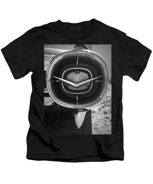 Vintage Tail Fin In Black And White Kids T-Shirt