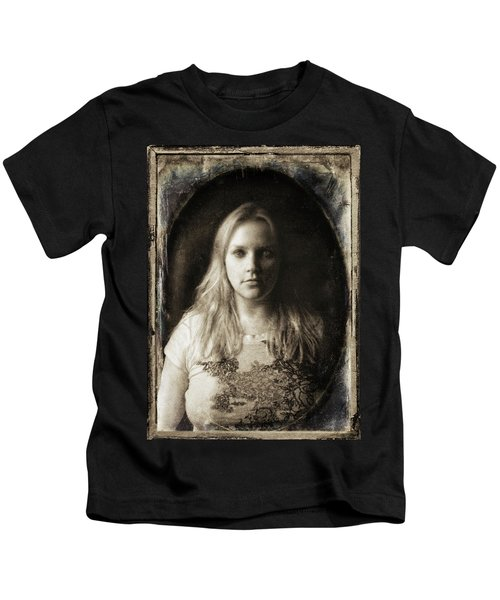 Vintage Tintype Ir Self-portrait Kids T-Shirt