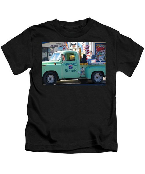 Vintage Truck With Elvis On Historic Route 66 Kids T-Shirt