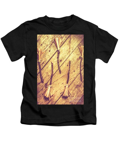 Vintage Witches Broomsticks Kids T-Shirt