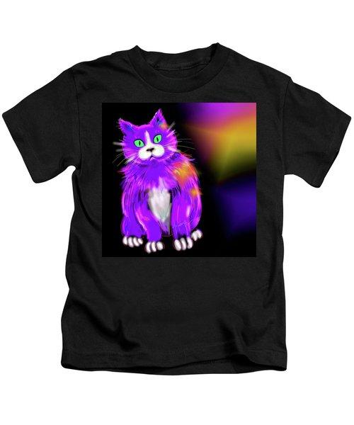 Violet Dizzycat Kids T-Shirt